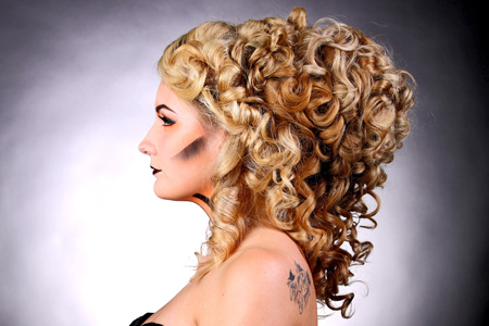 Creative hairstyles by Make-up Artist Aisha King.